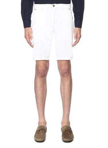 George Hogg Erkek 7003224 Slim Fit Şort Beyaz